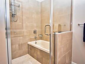 Pointe at Lake CrabTree Bathroom With Bathtub in North Carolina Apartments