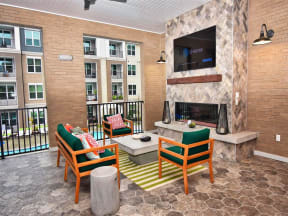 Spacious Pointe at Lake CrabTree Patio With Sitting Arrangements in Morrisville Rentals