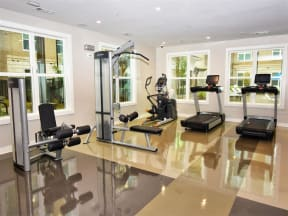 State-Of-The-Art Gym And Spin Studio at Pointe at Lake CrabTree in Apartment Homes in North Carolina