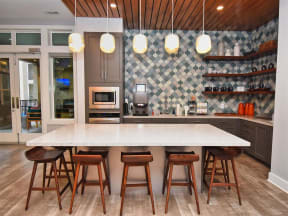 Large Pointe at Lake CrabTree Island Kitchen With Custom Cabinetry in Morrisville, North Carolina Apartment Rentals for Rent