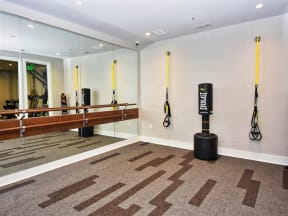 Pointe at Lake CrabTree Fitness Center With Yoga/Stretch Area in Morrisville, NC Apartments for Rent