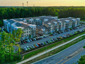 Aerial Exterior View Of Pointe at Lake CrabTree Community in Morrisville Rental Homes