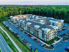 Aerial View From Pointe at Lake CrabTree Balcony in Morrisville Apartment Rentals for Rent