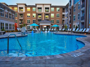 Sparkling Pointe at Lake CrabTree Swimming Pool in Morrisville Apartment Homes