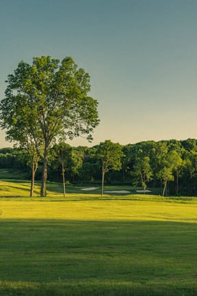 green space and gold course view