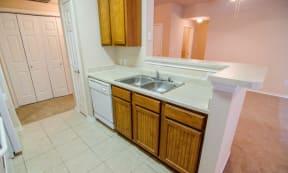 Portofino Senior Apartments Kitchen and Sink