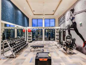 Spacious Coda Orlando fitness center with high-end equipment in Orlando, FL