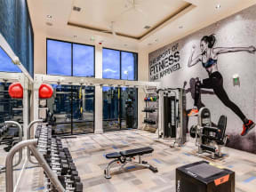 Wonderful fitness center with quality cardio equipment exclusively in Orlando, FL apartments for rent