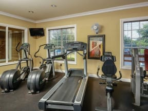 Fitness center features cardio and weight machines |Bay Harbor