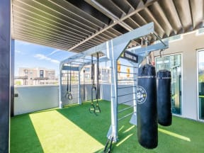 outdoor boxing area | Lumina fitness center