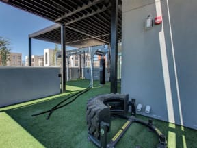 outdoor fitness training area