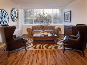 Living Room of model unit