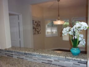 Kitchen counter l Vineyard Gate Apartments in Roseville CA