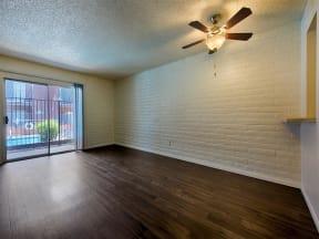 Lofty nine-foot ceilings at Fountain Plaza Apartments, 2345 N. Craycroft, Tucson, AZ