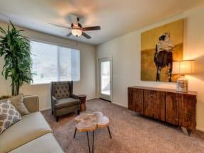 Living Room l Eaton Village Apartments in Chico CA