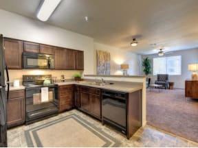 Kitchen l Eaton Village Apartments in Chico CA