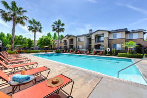 Chico, CA Apartments - Eaton Village Pool