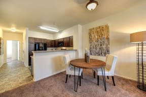 Dining and Kitchen l Eaton Village Apartments in Chico CA