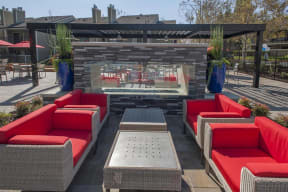 Fireplace seating Apartments in Pittsburg-Kirker Creek in CA Pool Lounge