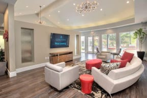 Leasing office Seating Apartments in Pittsburg, CA l Kirker Creek Apartments
