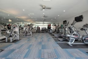 Gym with Fitness equipmen Apts for rent in Pittsburg, CA 94565 l Kirker Creek Apartments