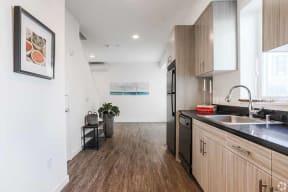 kitchen  l Coliseum Connection Apartments in Oakland, CA