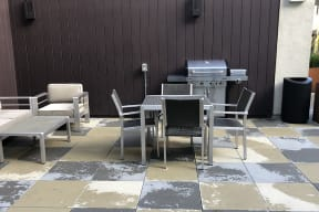 BBQ area with seating