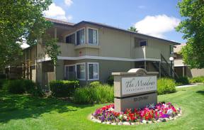 Entrance Sign l The Meadows Apartments in Santa Rosa CA