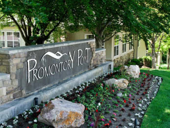 Decorated Property Signage at Promontory PointApartments, Sandy