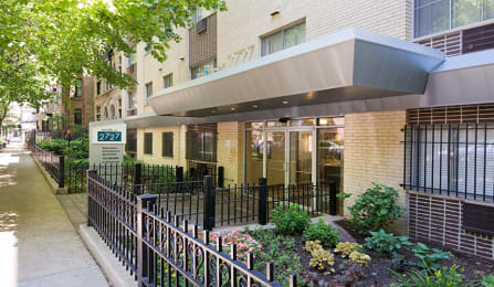 Controlled Access Entrance at Reside at 2727 Apartments, Chicago, IL,60614