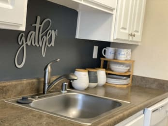 Stainless Basin Sink at Stoneridge Apartment Homes, Upland, CA, 91786