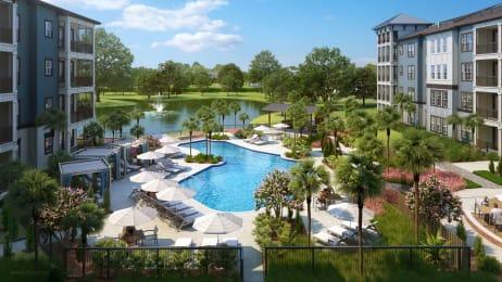 Aerial View Of Pool at Alta Longwood, Longwood, FL, 32750