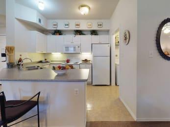 Kitchen counter at Tivoli apartments in Dallas TX