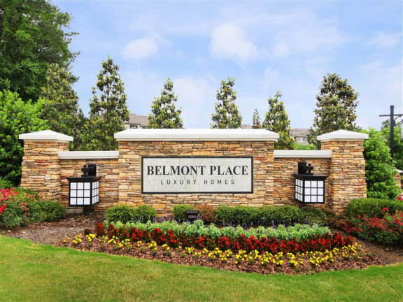 Welcoming Property Signage at Belmont Place, Marietta