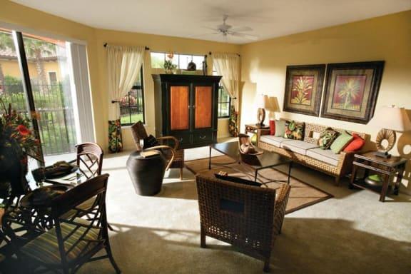 Interior Unit Carpet Flooring at The Palms Club Orlando Apartments, FL, 32811-2402