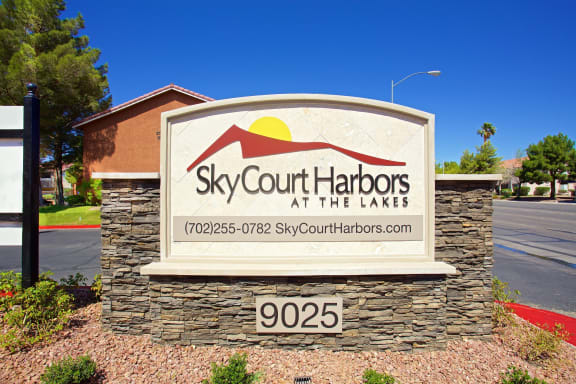 Property Signboard at Sky Court Harbors at The Lakes Apartments, Las Vegas, Nevada