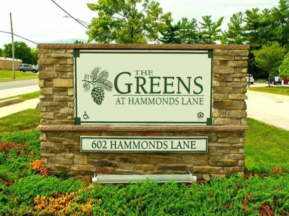The Greens at Hammonds Lane Community Sign