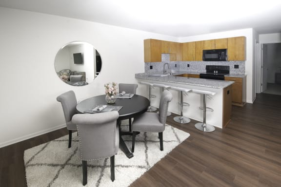 Dining Room and Kitchen View at Steedman Apartments, MRD Conventional, Waterville, OH, 43556