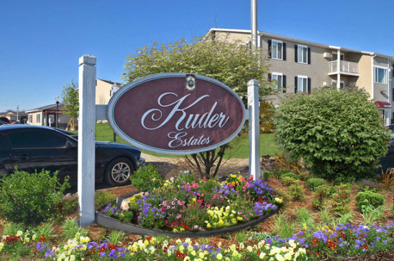 sign at Kuder Estates Apartments, MRD Conventional, Indiana