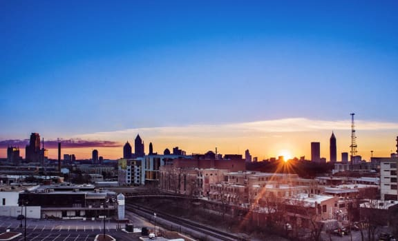 View from skydeck at Westside,Atlanta, GA