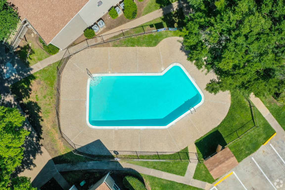 Sparkling swimming pool in Clute, Texas.