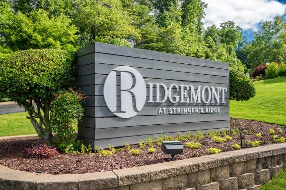 Ridgemont at Stringer's Ridge Monument Sign