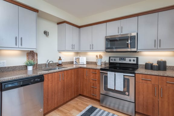 The Morgan | Spacious Kitchen with stainless steel appliance package