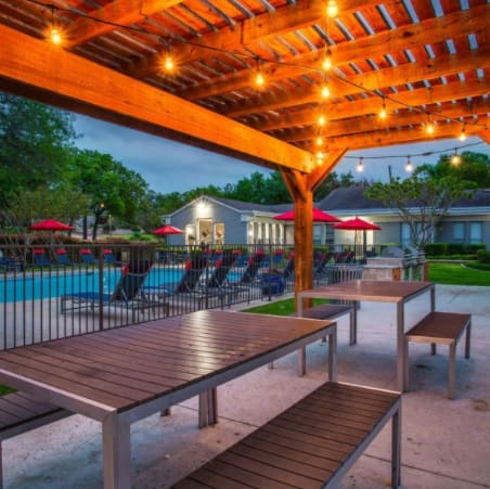 Poolside, Valley Oaks Apartments, Hurst, TX
