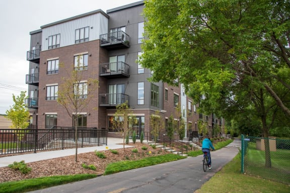 Urban Park exterior from bike path