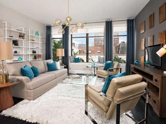 Living Room at Deco Apartments in Richmond Va