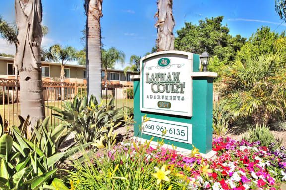 Welcoming Property Signage at Latham Court, California