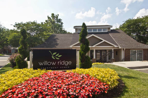 Welcoming Property Signage at Willow Ridge Apartments, Charlotte, NC