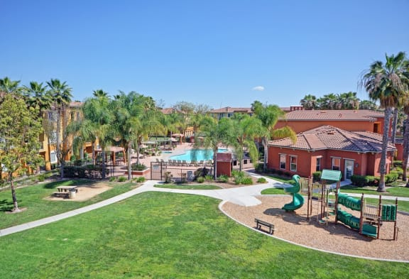 Beautifully Landscaped Grounds, at Missions at Sunbow Apartments, California, 91911