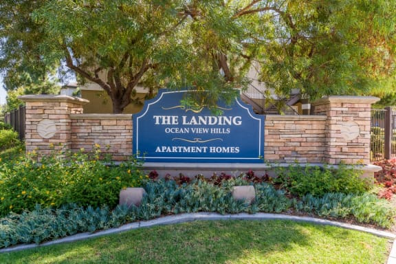 Welcoming Property Sign at The Landing, California